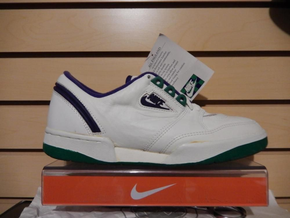 VTG OG 1986 Nike Wimbledon All England Court Tennis Shoes 9 DS RARE  Collectors