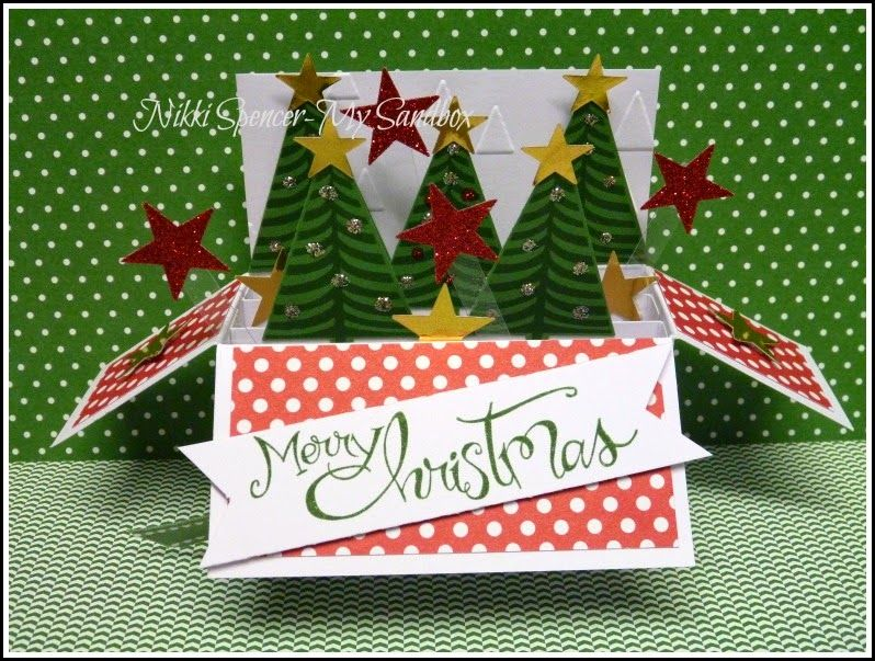 With Christmas Starting To Enter Our Thoughts And Some Fun New Christmas Products From Stampin Up L Thought L Woul Xmas Cards Christmas Cards To Make Card Box