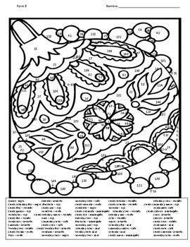 Spanish Christmas Color By Number Coloring Page 2 Forms Christmas Color By Number Christmas Colors Coloring Pages