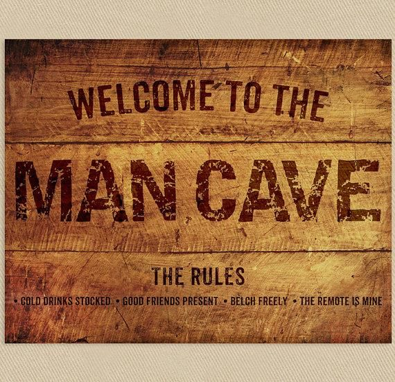 Man Cave Wall Decor : Man cave sign wall art printable add a name to