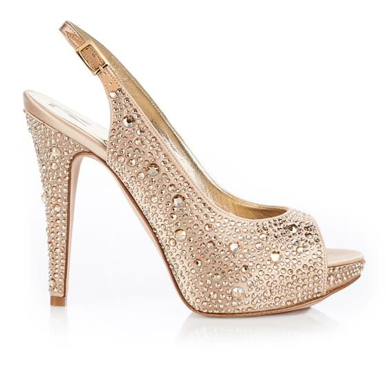 Womens Gold Shoes Prom Wedding Sparkly Heels sizes 3456