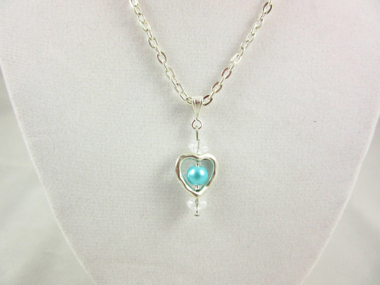 Turquoise heart pendantkids pendanthandmade pendantkids jewelry turquoise heart pendantkids pendanthandmade pendantkids jewelrygift for children aloadofball Gallery