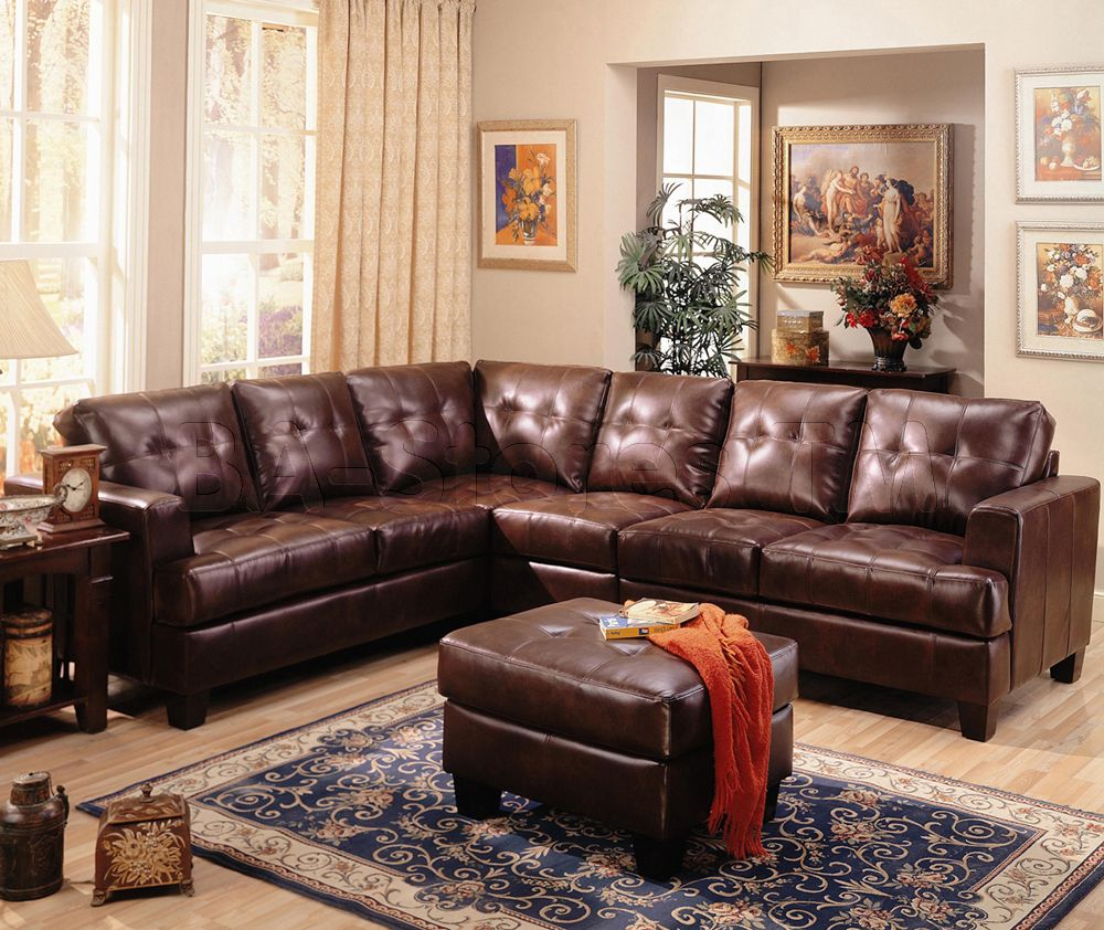 leather furniture ideas for your cozy living room living room