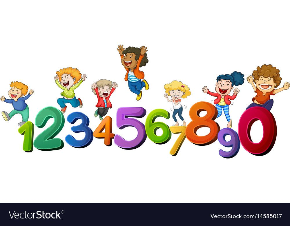 Happy Children And Numbers One To Zero Illustration Download A Free Preview Or High Quality Adobe Illustrator Ai Eps Happy Kids Writing Posters Art Classroom Free clipart preschool images
