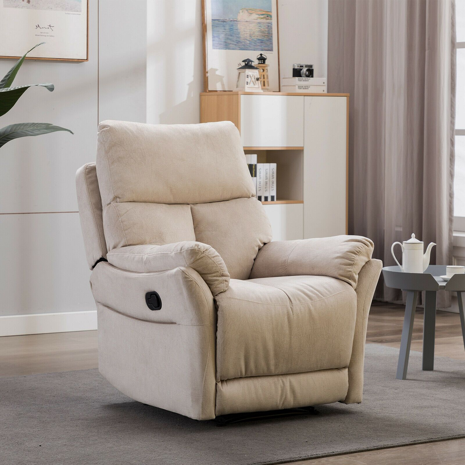 Manual Recliner Chair Reclining Lounge Sofa with