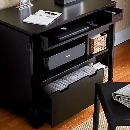 Incognito Ebony Compact Office Desk Crate Barrel Home