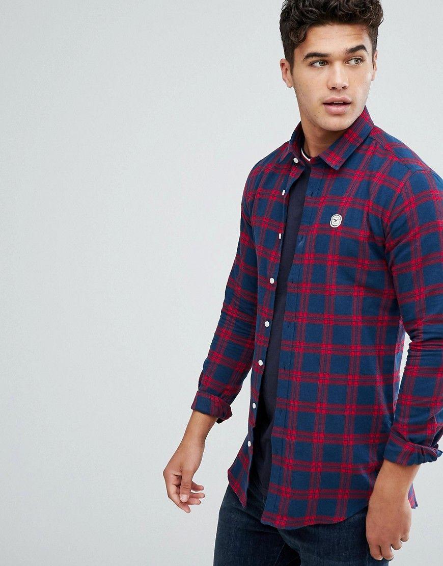 f2b8bb92 Le Breve Flannel Longline Check Shirt | Check Shirts | Shirts, Check ...