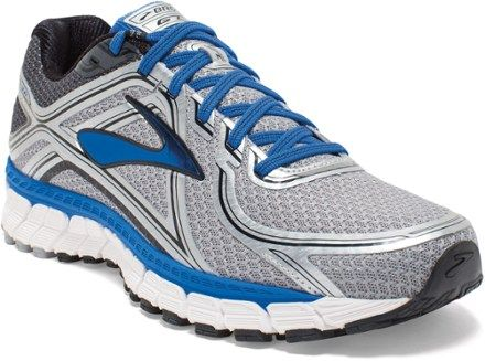 fd678252c88 Brooks Men s Adrenaline GTS 16 Road-Running Shoes Silver Electric Blue 9.5  Wide