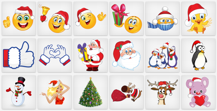 Christmas Emoticons For Facebook Christmas Emoticons Christmas Stickers Christmas