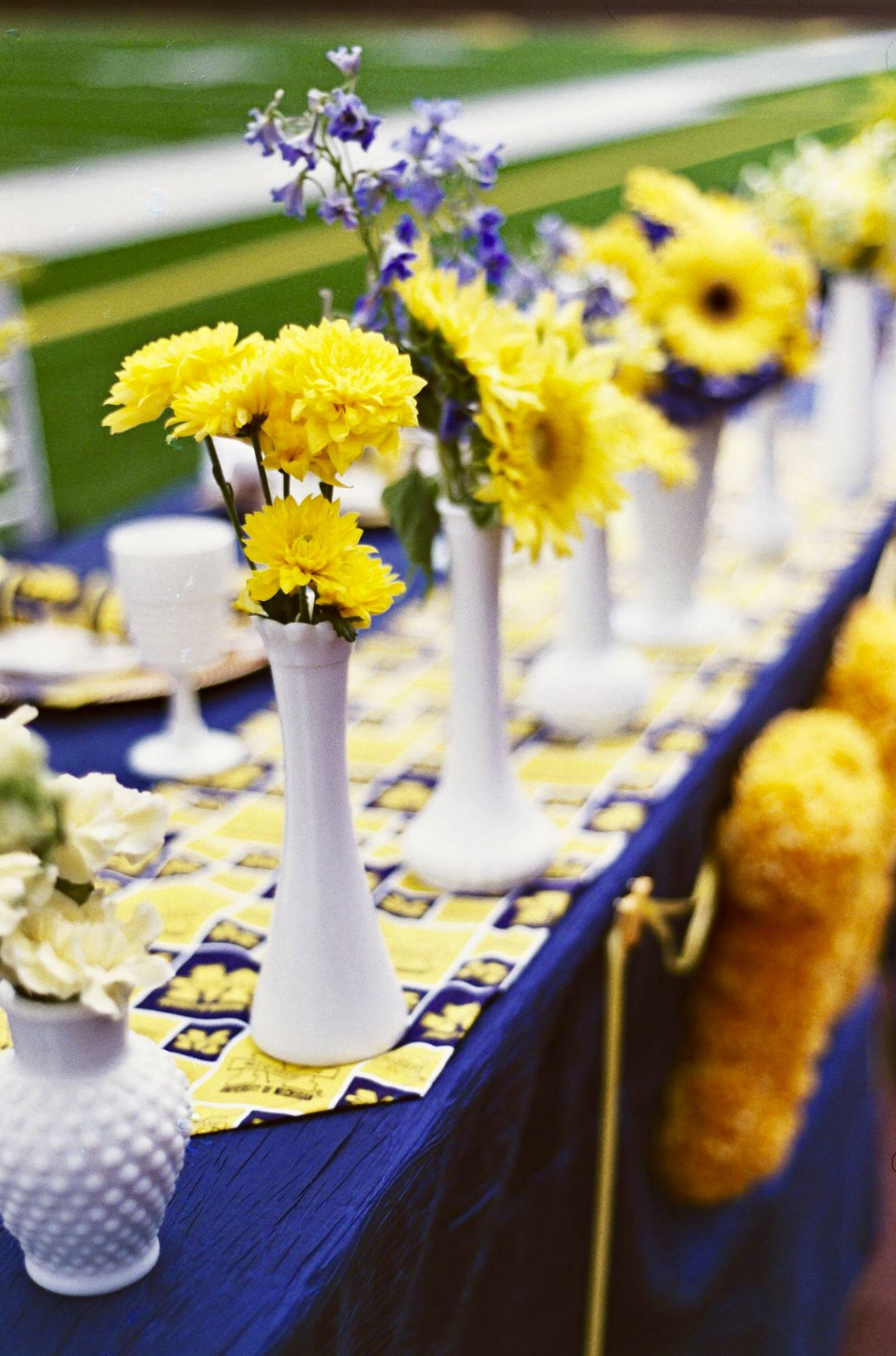 Football Themed Co Ed Wedding Shower At The University Of Michigan