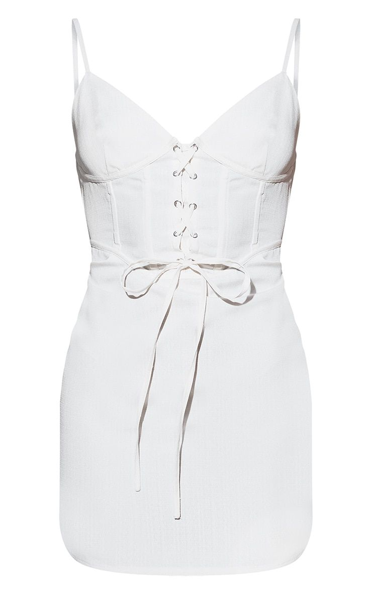 White Lace Up Corset Bodycon Dress White Lace Lace Up Dresses [ 1180 x 740 Pixel ]