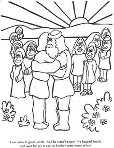God 39 s family meet together coloring