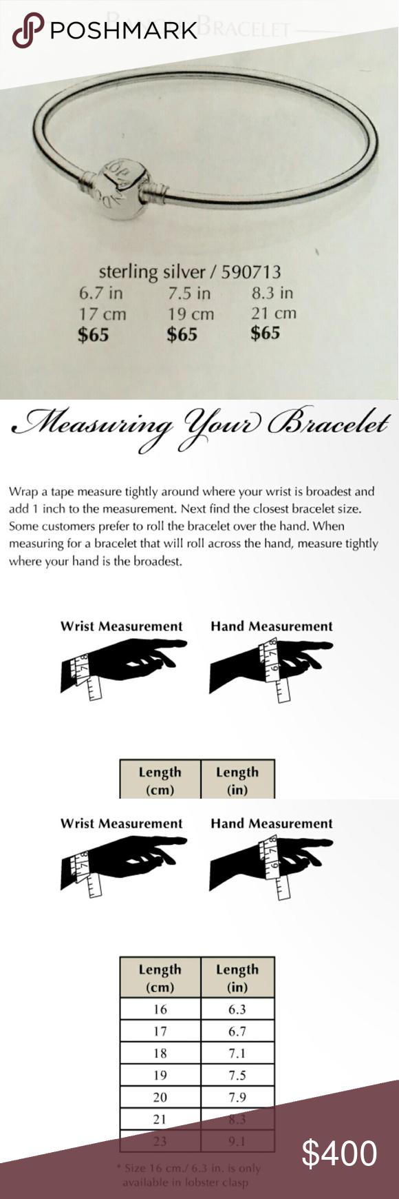 How To Measure A Pandora Bangle Guide To Measuring Pandora Bangles Pandora Accessories Pandora Bangle Pandora Accessories Bracelet Sizes