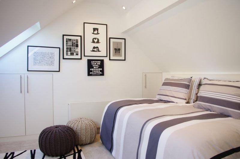 schlafzimmer mit dachschr ge gestalten 23 moderne wohnideen schlafzimmer pinterest. Black Bedroom Furniture Sets. Home Design Ideas
