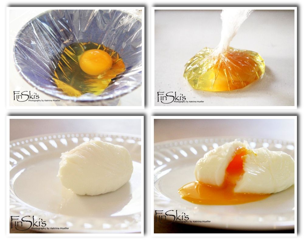 How to make a poached egg in cling film