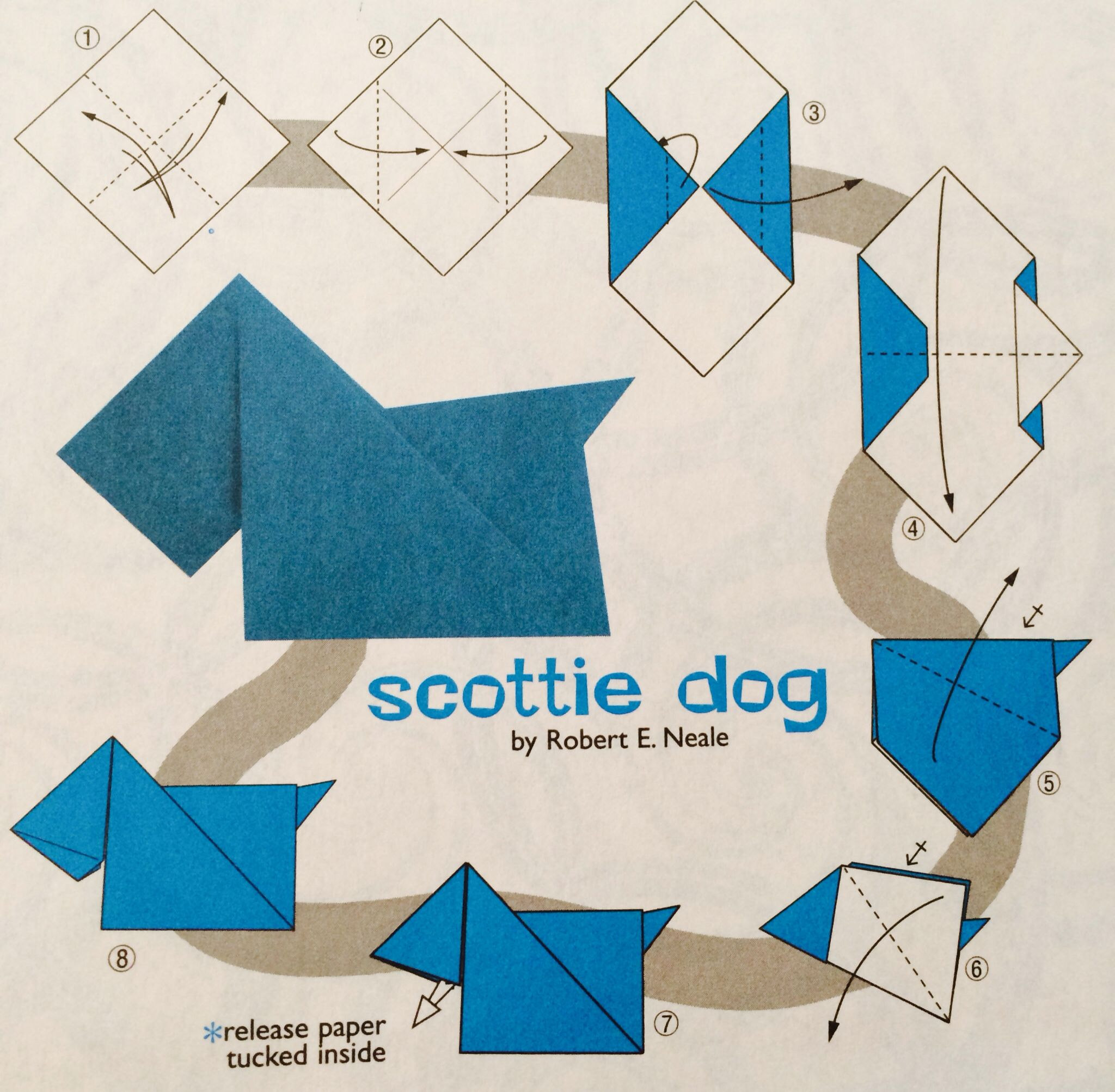 origami diagram motorcycle 2003 nissan xterra radio wiring scottie dog crafts paper pinterest