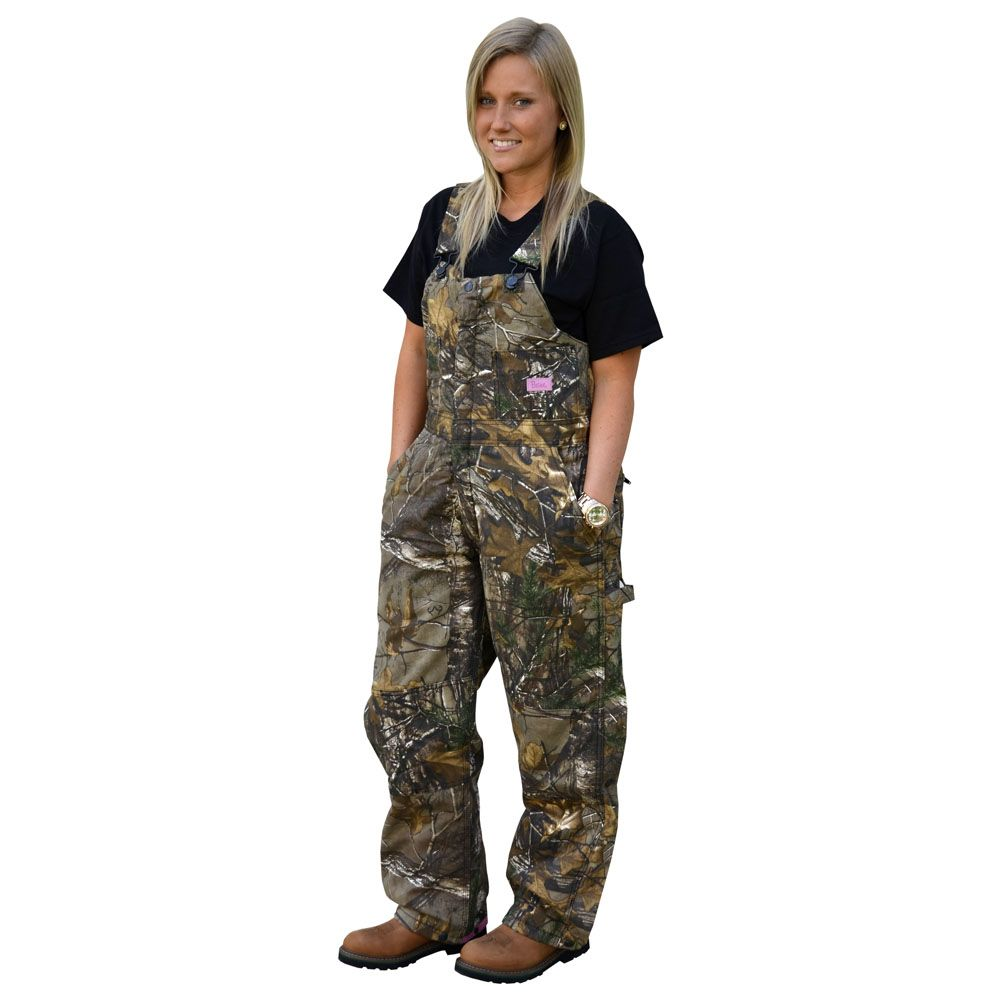 berne realtree xtra womens insulated camo bib overall on insulated overalls id=57950
