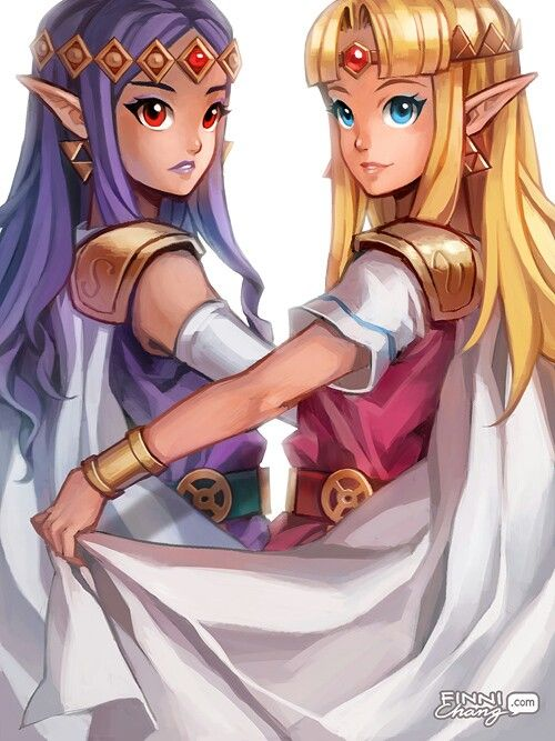Princess Zelda And Hilda A Link Between Worlds With Images