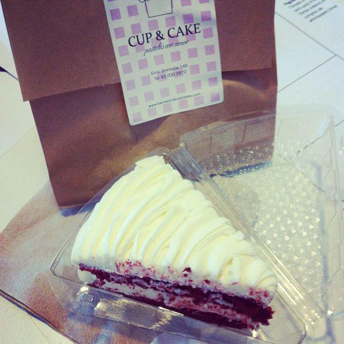 #RedVelvet cake de Cup & Cake Barcelona