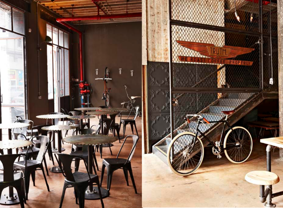 Metronome Truth Coffee Steampunk Roastery And Cafe Cafe Interior Design Vintage Cafe Design Cafe Interior