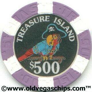 Las Vegas Treasure Island 500 Casino Chip From Www Oldvegaschips Com Treasure Island Casino Casino Chips Treasure Island Las Vegas