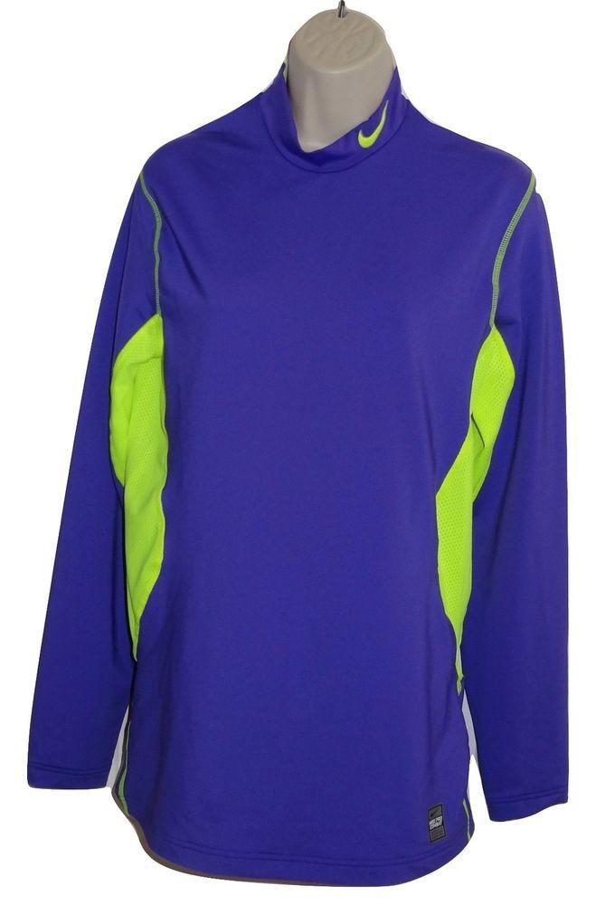 f78be3ac97f574 Nike Combat Pro Long Sleeve Shirt Purple Yellow Dri-Fit Hyperwarm Men's Sz  M SR #NFL #ShirtsTops