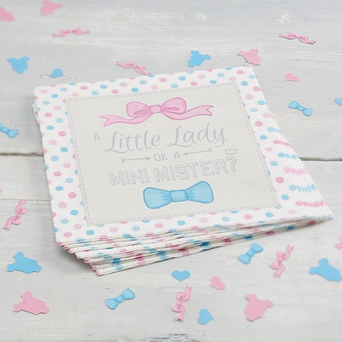 Little Lady Or Mini Mister Napkins (Pack of 20) | GettingPersonal.co.uk