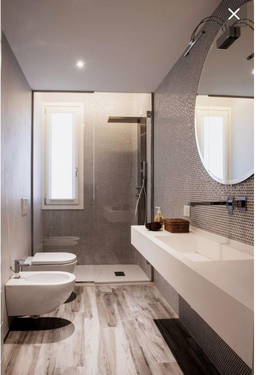 bagno con finestra in doccia Stile bagno, Bagni moderni