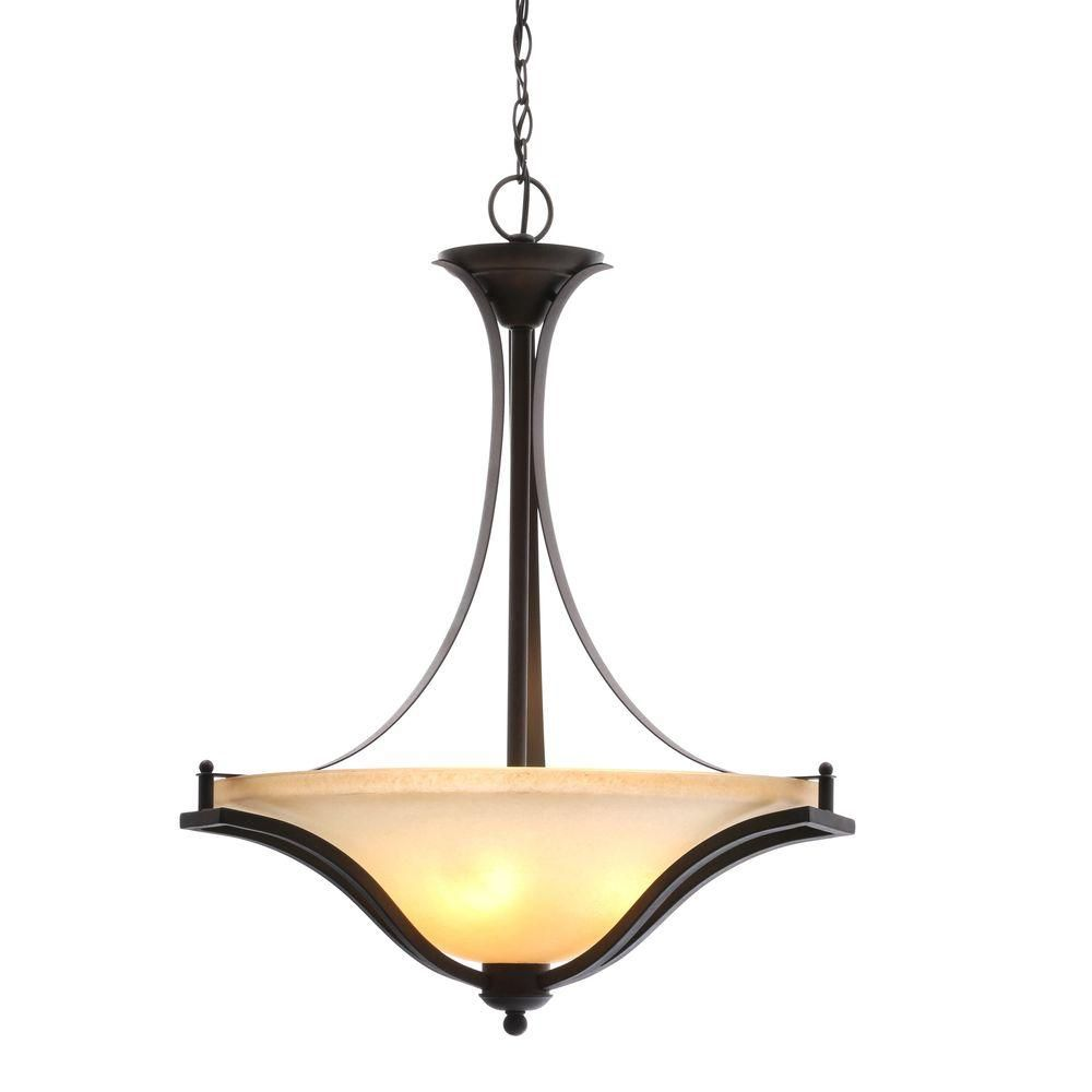 Wonderful Commercial Electric 3 Light Rustic Iron Pendant