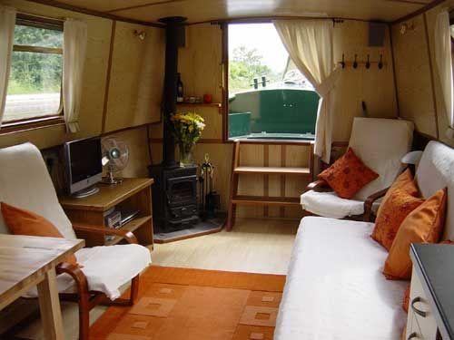 Moonboat Salon. Boat Living. -- Not A Sailboat, But Still