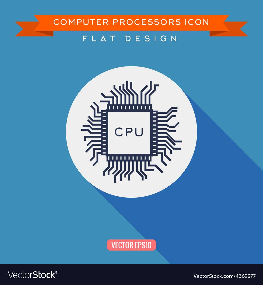 processor icon cpu long shadow flat design vector image ad cpu long processor icon ad abstract logo house logo icon logo sign processor icon cpu long shadow flat