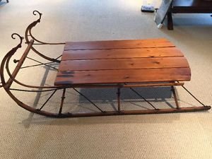 Antique Sleigh Coffee Table In 2019 Snow Sled