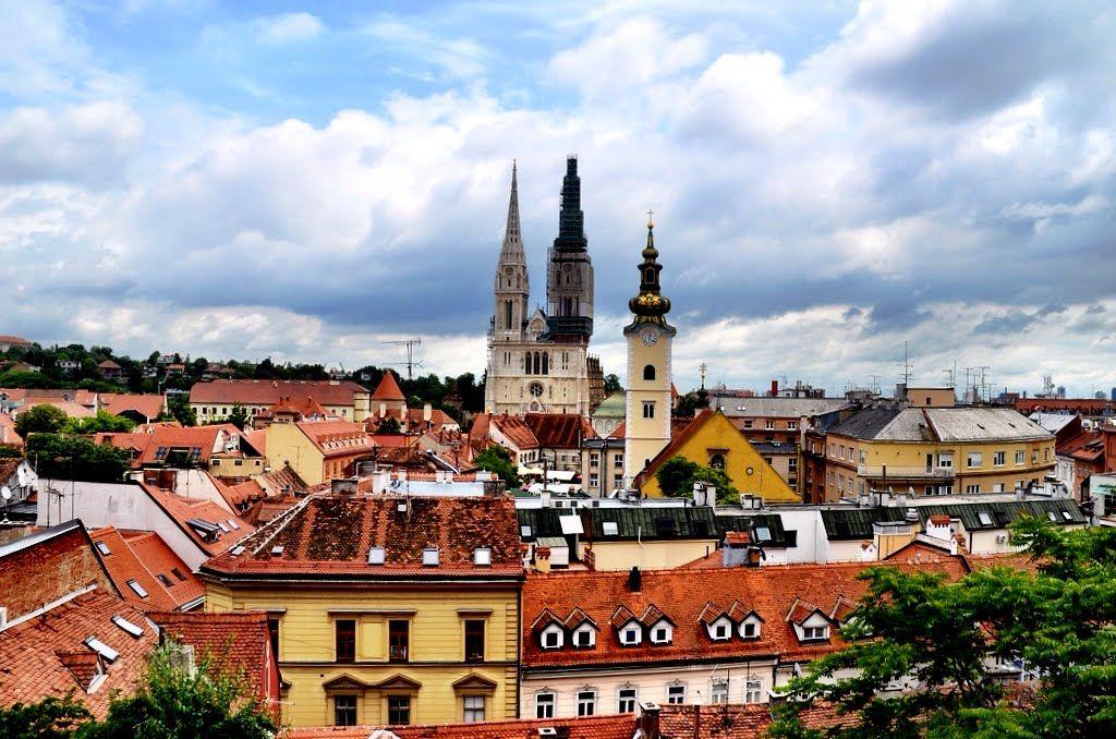 Panorama Zagreba Zagreb Croatia Croatia Zagreb