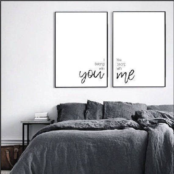 I belong with you printable set, farmhouse decor, bedroom printable, farmhouse style, modern printab