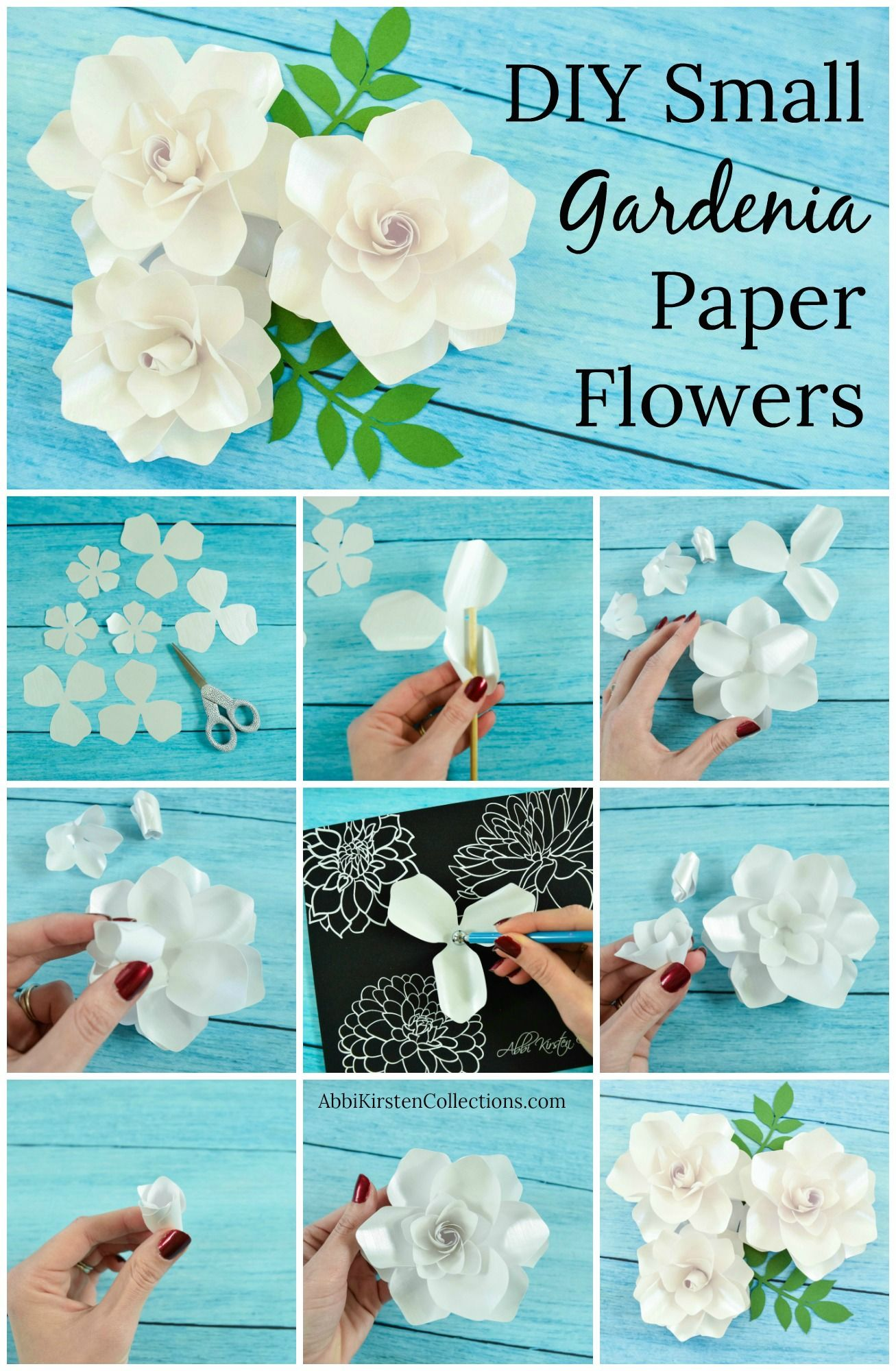 Small Gardenia Paper Flower Template Paper Flowers Diy Paper