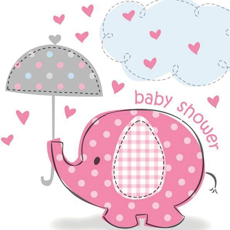 Attractive Baby Shower Sheet Cakes For Girls Baby Elephants | Pink Elephant Basic Party  Pack (8