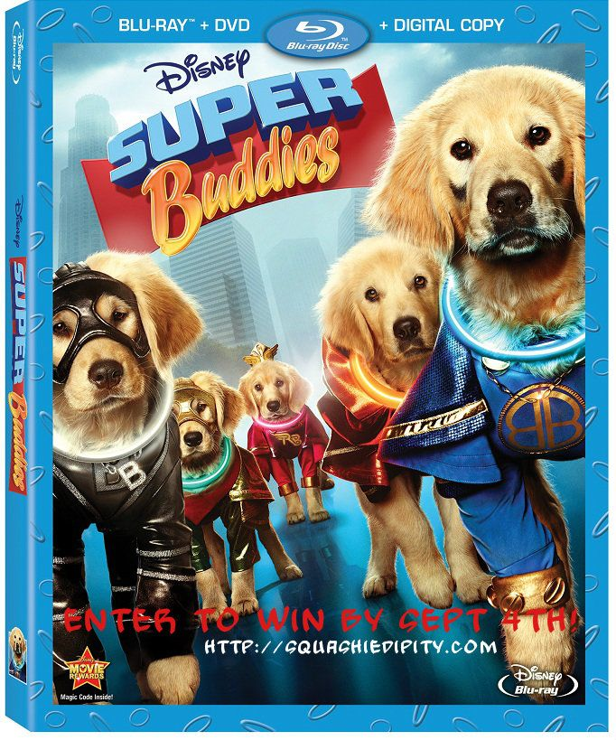 Enter to win Disney's Super Buddies on Blu-Ray Combo Pack! Fun for the whole family!
