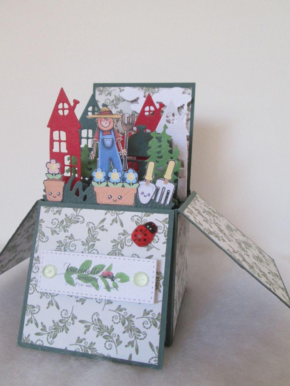 Carte Boite Pop Up Le Jardinier Pour Toutes Occasions Amour