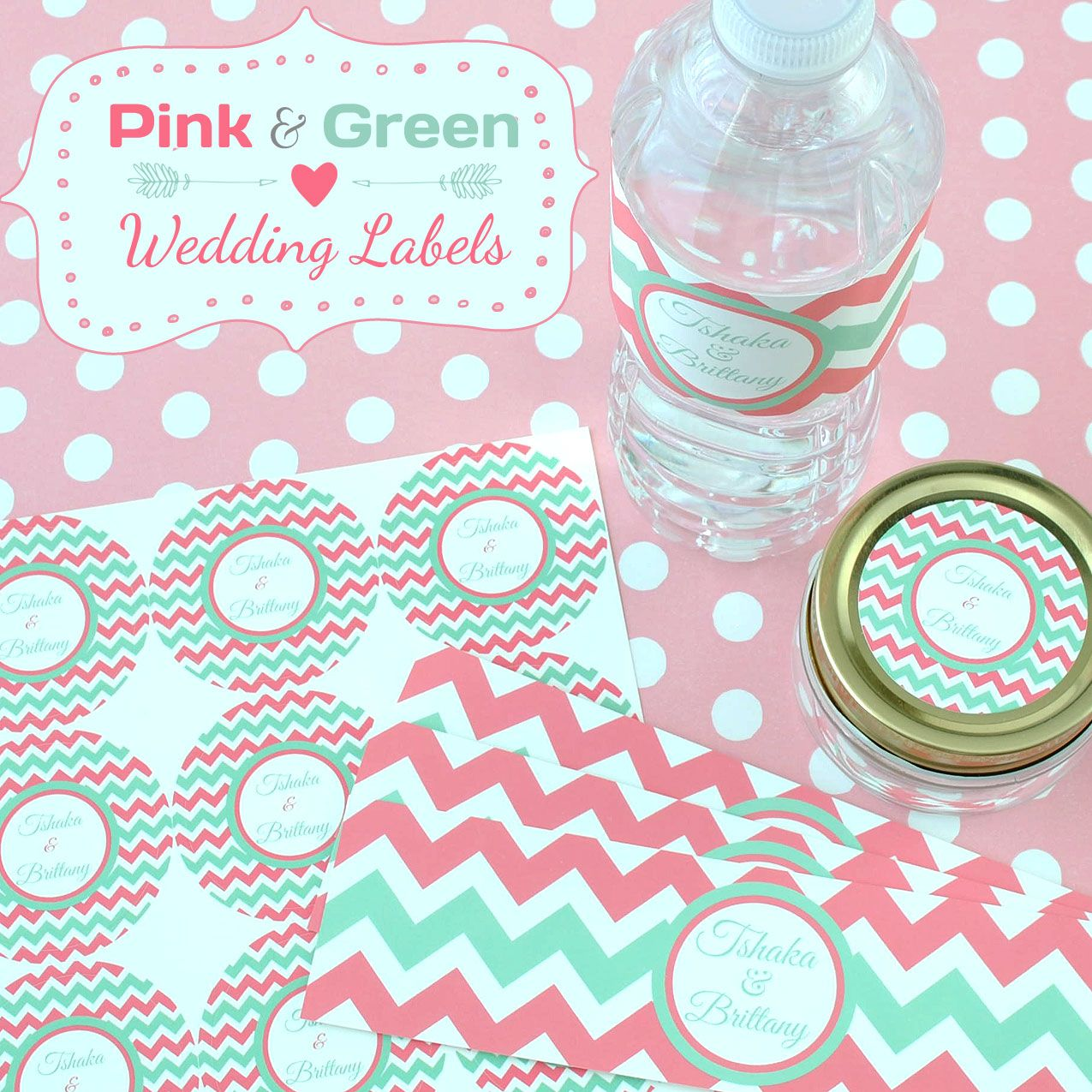 Pink and green wedding? We have you covered with our customizable ...