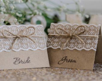 rustic name tags for table setting - Google Search   Wedding ...