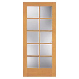 ReliaBilt 10 Lite Pine Slab Interior Door (Common: 36 In X 80