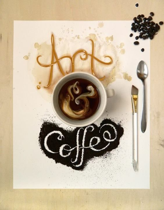 Arte & café para para começar bem o dia!    Artista: Alissa Breakiron