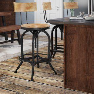 Groovy Williston Forge Wellman Adjustable Height Swivel Bar Stool Machost Co Dining Chair Design Ideas Machostcouk