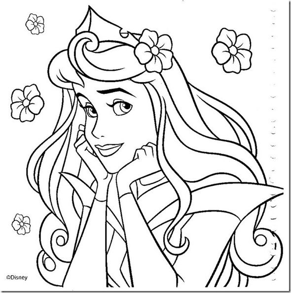 desenhos colorir princesas disney  017  Riscos para pintar