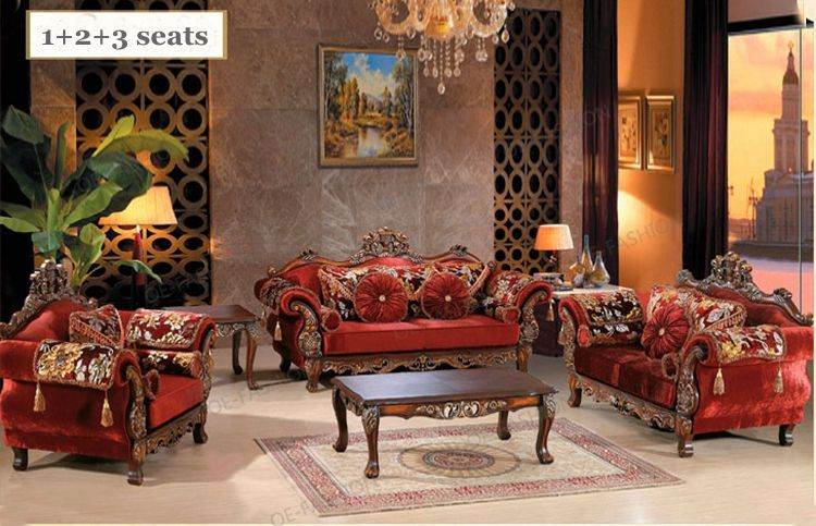Red Velvet Livingroom Solid Wood Frame Carving Arabic Sofa Set Designs View Sofa Set Designs Oe Fashion Pro Red Fabric Sofa Sofa Set Designs Furniture Styles #red #living #room #furniture #sets