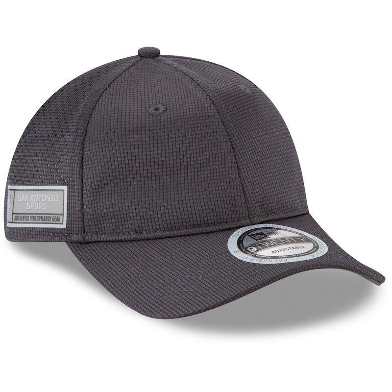 size 40 855cc 97c70 San Antonio Spurs New Era Authentics Training 9TWENTY Adjustable Hat -  Graphite