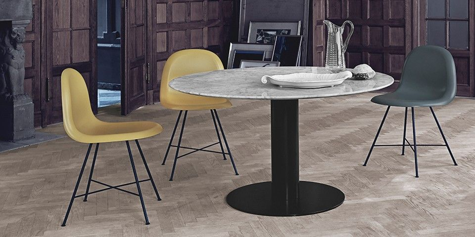 Gubi 2 0 Round Dining Table Marble Top Available In Various