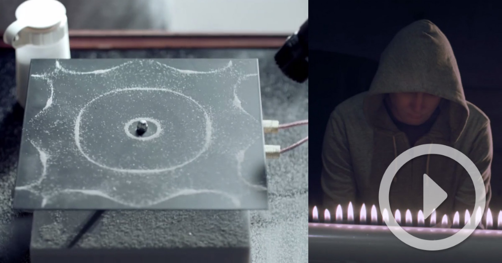 Cymatics New Music Video For Nigel Stanford Merges Music And Science Experiments Cymatics Homeschool Music Music Videos
