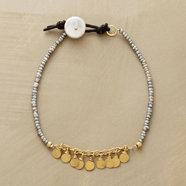Pearl Gala Bracelet  Confetti forged of 14kt vermeil makes a festive interlude…