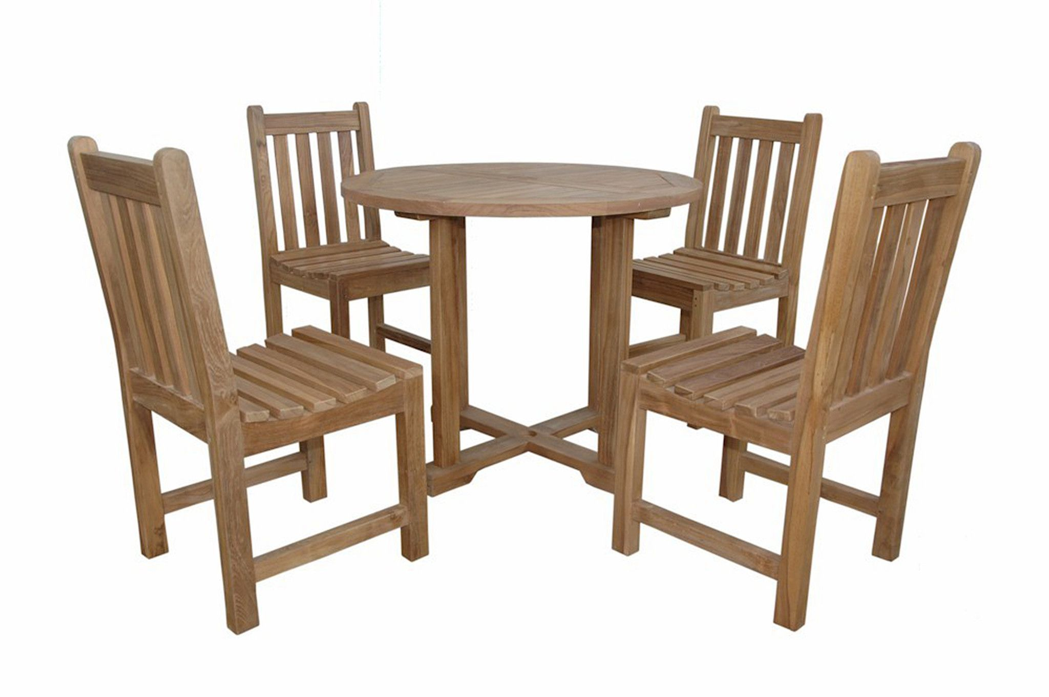 Round dining table and chairs for 4  Anderson Teak  Montage